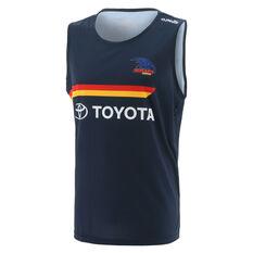 Adelaide Crows 2021 Mens Training Singlet Blue S, Blue, rebel_hi-res