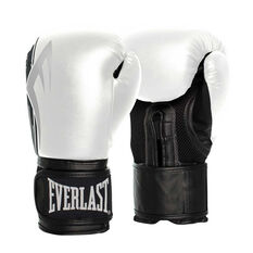 Everlast Pro Style Power Training Gloves White / Black 12oz, White / Black, rebel_hi-res