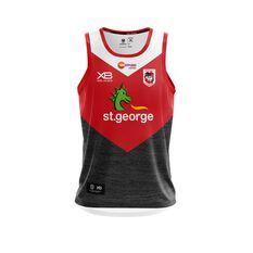 St George Illawarra Dragons 2019 Mens Training Singlet Black / Red S, Black / Red, rebel_hi-res