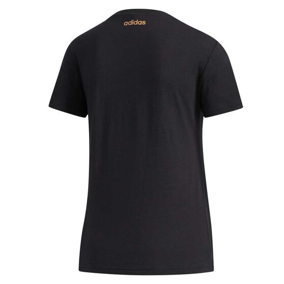 adidas Womens Essentials Branded Tee Black XS, Black, rebel_hi-res