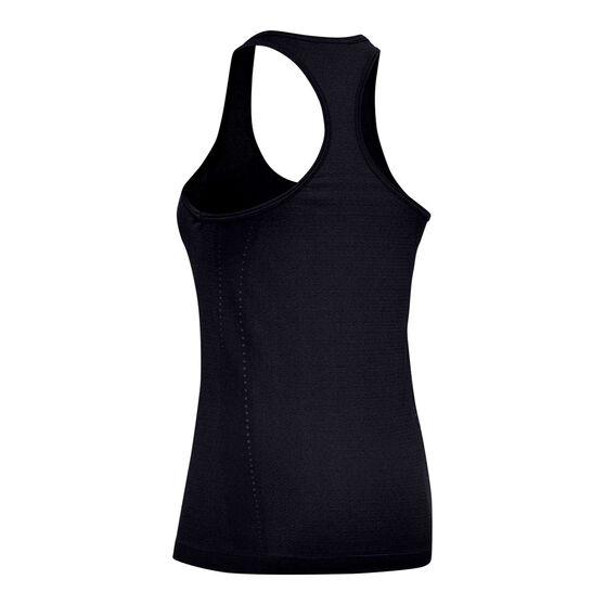 Under Armour Womens Seamless Tank, Black, rebel_hi-res