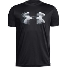 Under Armour Boys VT Tech Big Logo Tee Black / White XS, Black / White, rebel_hi-res