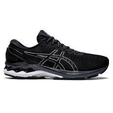 Asics GEL Kayano 27 2E Mens Running Shoes Black/Silver US 7, Black/Silver, rebel_hi-res