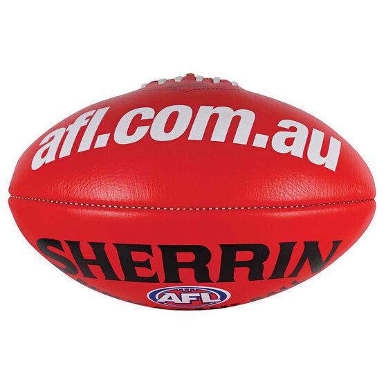 Sherrin AFL Replica Game Ball  Red 5, , rebel_hi-res