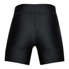Under Armour Womens HeatGear Armour Shorts Black / Silver XS, Black / Silver, rebel_hi-res