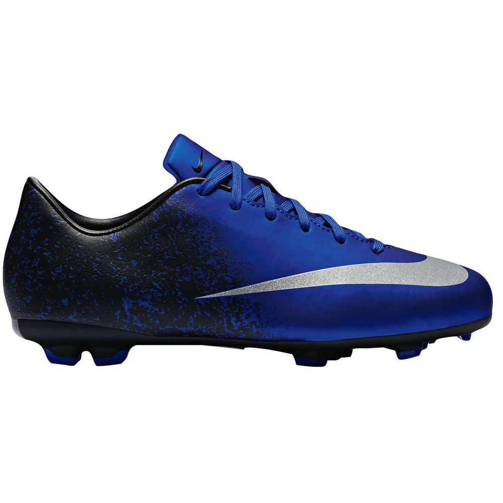 1030bdc84e9 Nike Mercurial Victory V CR7 Kids Football Boots Blue   Silver US 11  Junior