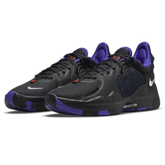 Nike PG 5 Basketball Shoes, Black, rebel_hi-res