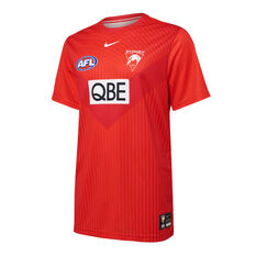 Sydney Swans 2021 Mens UV Training Tee Red S, Red, rebel_hi-res