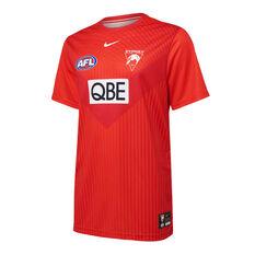Sydney Swans 2021 Mens UV Training Tee Red S, Red, rebel_hi-res