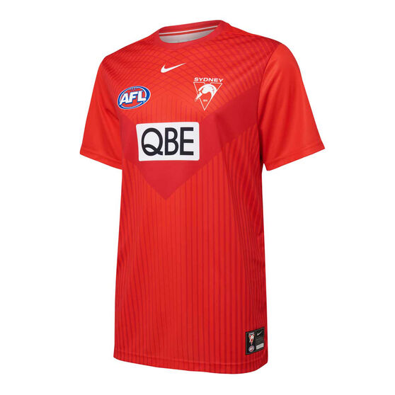 Sydney Swans 2021 Mens UV Training Tee, Red, rebel_hi-res