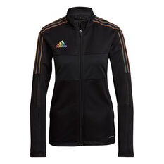 adidas Womens Tiro Pride Football Track Jacket Black XS, Black, rebel_hi-res