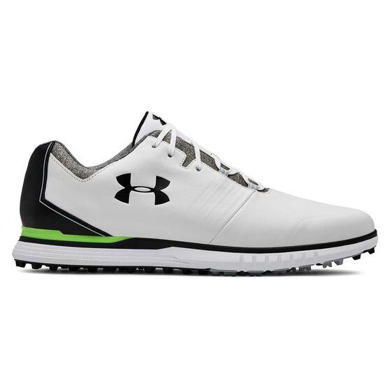 Under Armour Showdown SL Mens Golf Shoes White / Black US 7, White / Black, rebel_hi-res