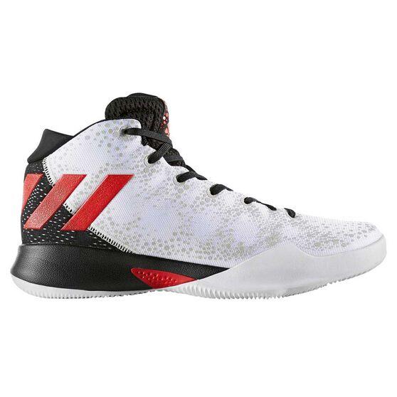 bc733b119542 adidas Crazy Heat Mens Basketball Shoes White   Black US 10