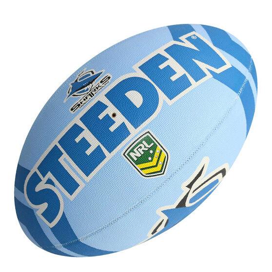 Steeden NRL Cronulla-Sutherland Sharks Supporter Rugby League Ball, , rebel_hi-res