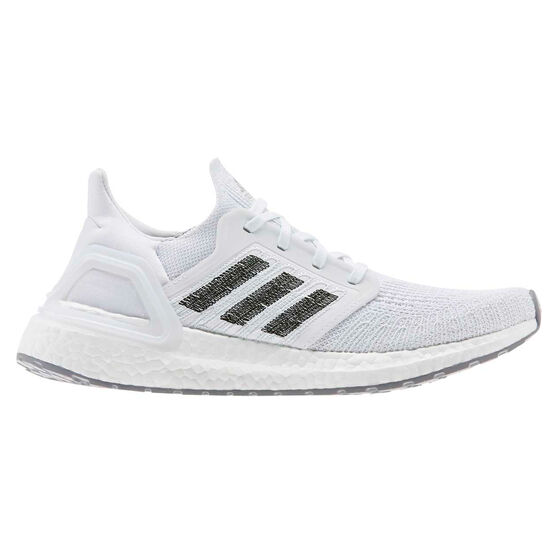 adidas Ultraboost 20 Womens Running Shoes, White / Grey, rebel_hi-res