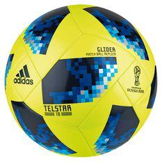adidas Telstar 2018 Top Glider Soccer Ball Yellow / Blue 3, Yellow / Blue, rebel_hi-res