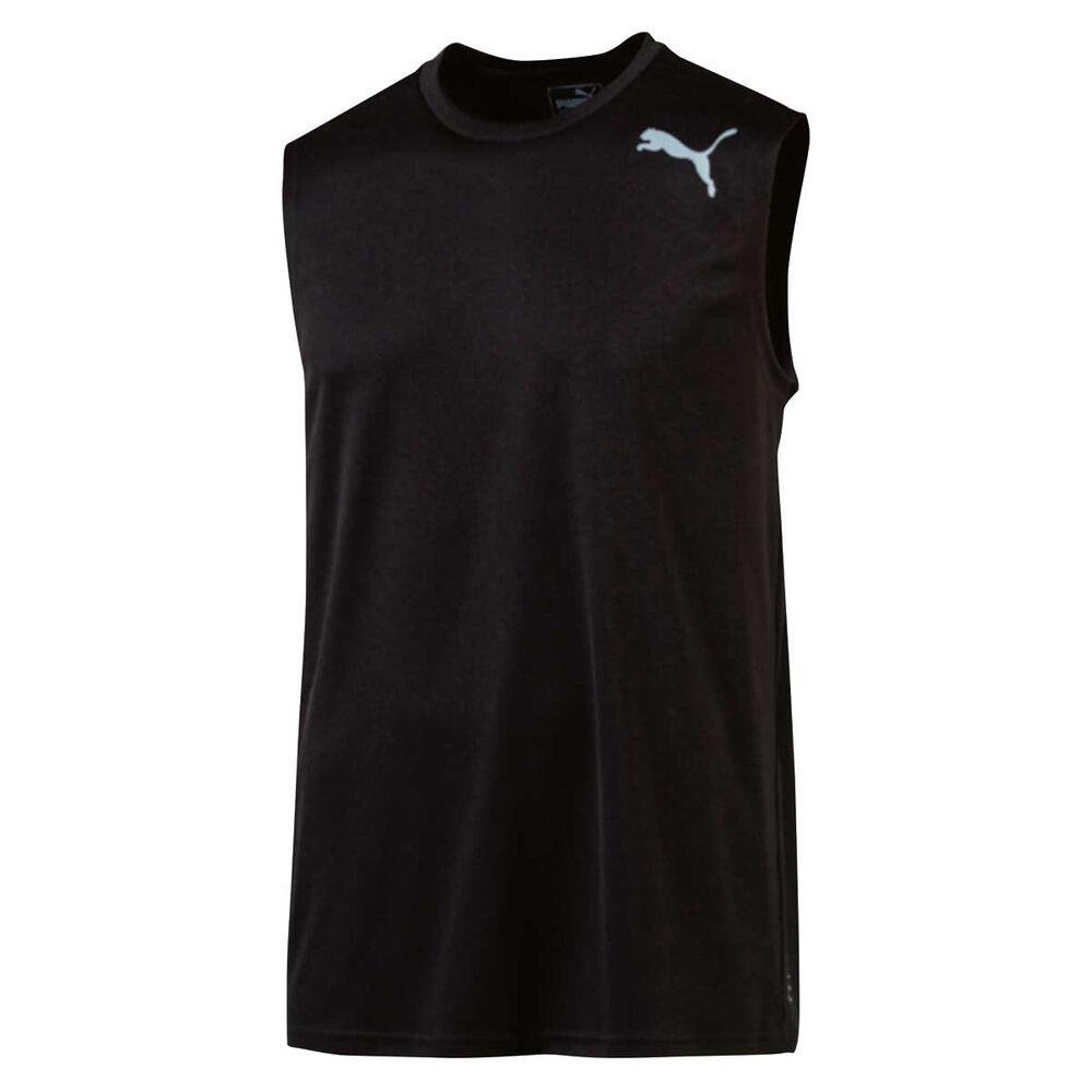 a1d791ef1a6364 Puma Mens Essential Sleeveless Training Tee Black S