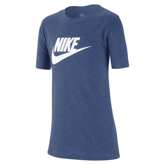 Nike Sportswear Boys Futura T-Shirt, Navy / White, rebel_hi-res