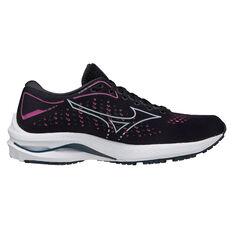 Mizuno Wave Rider 25 Project Zero Womens Running Shoes, Black/Pink, rebel_hi-res