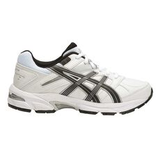 Asics Gel 190TR Leather Boys Cross Training Shoes White / Black US 1, White / Black, rebel_hi-res