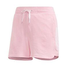 adidas Womens ID 3 Stripes Running Shorts Pink XS, Pink, rebel_hi-res