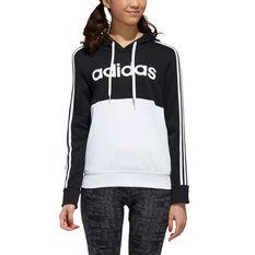 adidas Womens Essentials Colourblock Hoodie, Black, rebel_hi-res