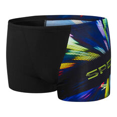 Speedo Boys Incite Aquashort Black 6, Black, rebel_hi-res