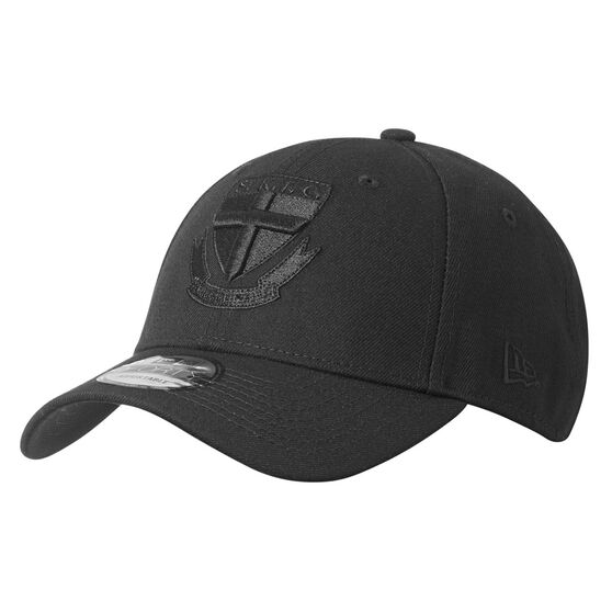 St Kilda Saints New Era Black on Black 9FORTY Cap, , rebel_hi-res