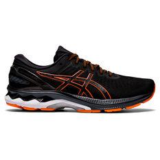 Asics GEL Kayano 27 Mens Running Shoes Black/Orange US 7, Black/Orange, rebel_hi-res