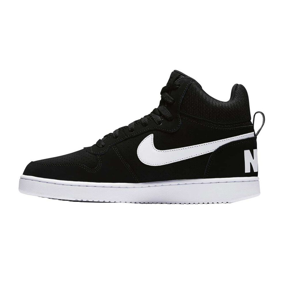 2d62b9c36 Nike Court Borough Mid Mens Casual Shoes Black   White US 7