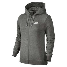 Nike Womens Sportswear Fleece Hoodie Grey / White XS, Grey / White, rebel_hi-res