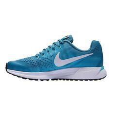 Nike Zoom Pegasus 34 Kids Running Shoes Aqua US 4, Aqua, rebel_hi-res
