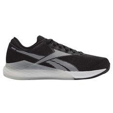 Reebok Nano 9 Mens Training Shoes Black / White US 7, Black / White, rebel_hi-res