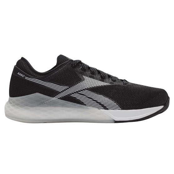 Reebok Nano 9 Mens Training Shoes, Black / White, rebel_hi-res