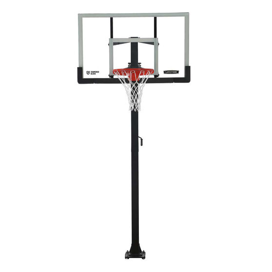 Lifetime 60in Tempered Glass Pro Slam In Ground Basketball System, , rebel_hi-res