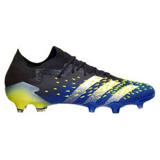 adidas Predator Freak .1 Low Football Boots Black/Blue US Mens 6 / Womens 7, Black/Blue, rebel_hi-res
