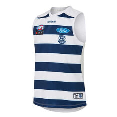 Geelong Cats AFLW 2020 Kids Home Guernsey White/Blue 8, White/Blue, rebel_hi-res