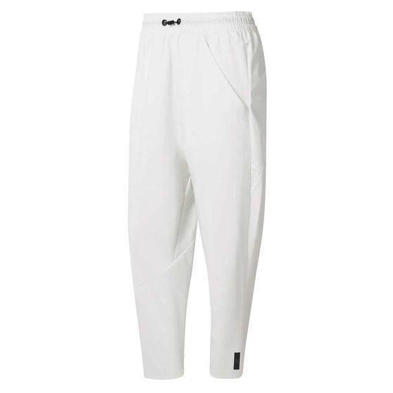 Reebok Womens Training Supply 7 / 8 Pants, White, rebel_hi-res