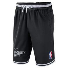 Nike Brooklyn Nets Mens Courtside NBA DNA Basketball Shorts Black S, Black, rebel_hi-res