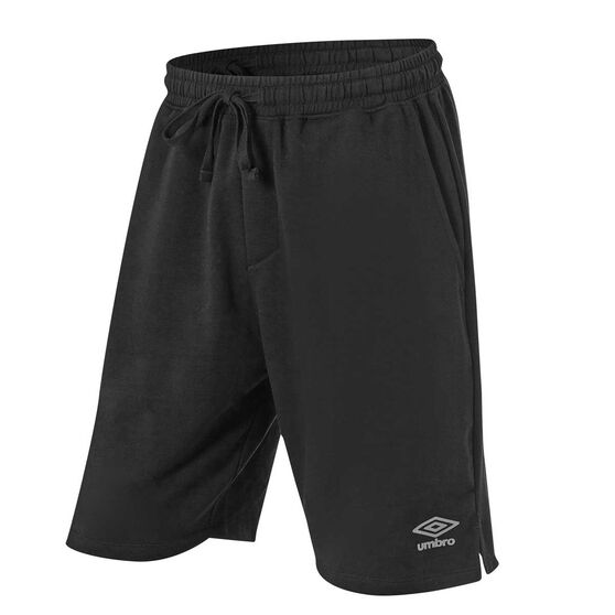 Umbro Mens 8in Knitted Training Shorts, Black, rebel_hi-res