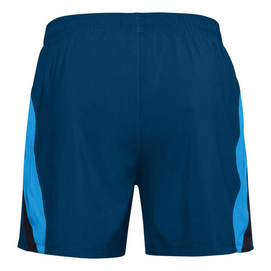 Under Armour Mens UA Launch 5in Shorts, Blue, rebel_hi-res