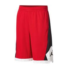 Nike Boys Jordan Authentic Triangle Basketball Shorts Red / Black S, Red / Black, rebel_hi-res