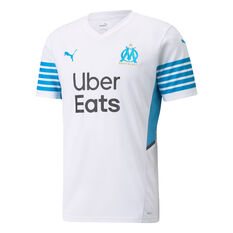 Olympique de Marseille Mens Home 2021/22 Jersey White S, White, rebel_hi-res