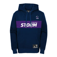 Melbourne Storm 2021 Mens Hoodie Navy S, Navy, rebel_hi-res