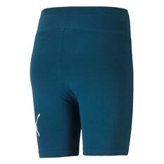 """Puma Womens Essentials+ 7"""" Shorts Blue XS, Blue, rebel_hi-res"""