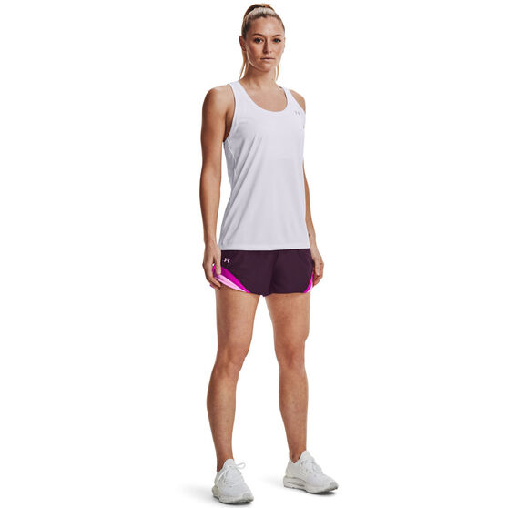 Under Armour Womens Play Up 3.0 Tri Colour Shorts, Purple, rebel_hi-res