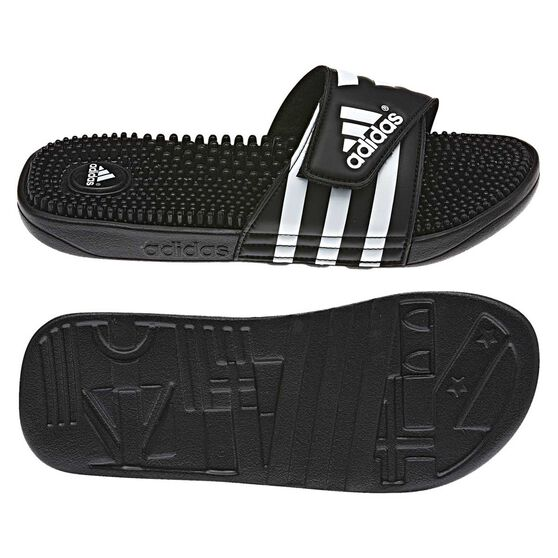 first look good selling new cheap adidas Adissage Mens Slides Black US 9