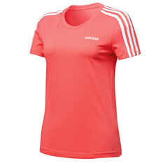 adidas Womens Essentials 3 Stripes Tee Pink XS, Pink, rebel_hi-res