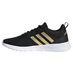 adidas QT Racer 2.0 Womens Casual Shoes Black/Gold US 6, Black/Gold, rebel_hi-res