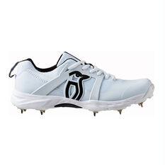 Kookaburra Pro 2000 Cricket Shoes White US 8, White, rebel_hi-res